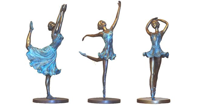 bronzen ballerina beelden