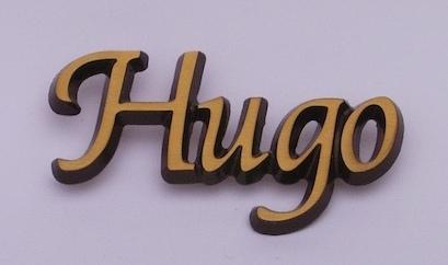 bronskleurige letters
