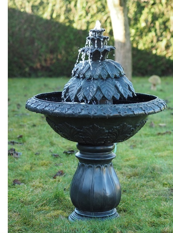 Bronzen fontein tuin