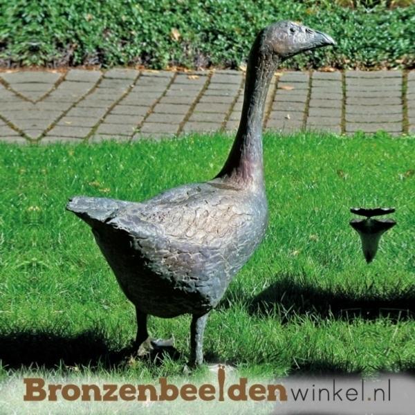 bronzen ganzen beelden, beeld gans