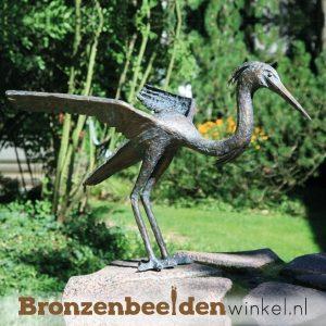 Bronzen reigers, reiger beeld