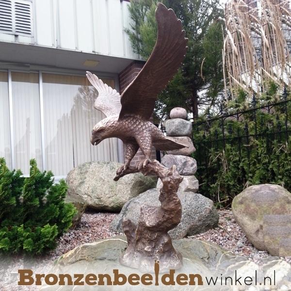 Bronzen roofvogel beelden, roofvogels brons