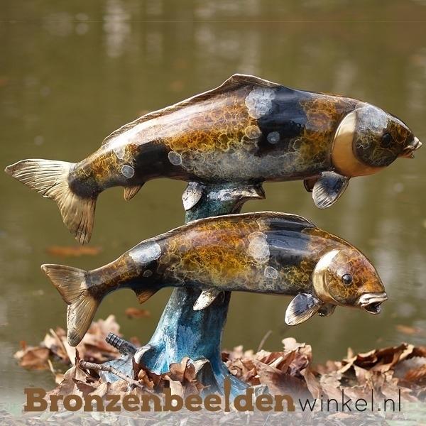 Bronzen vissen, vis beeld