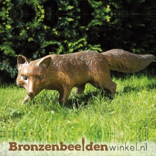 bronzen vossen, beeld vos
