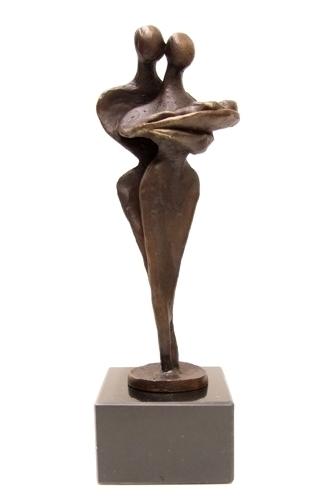 Geboorte beeldje brons