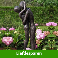 Liefdespaar als tuinbeeld