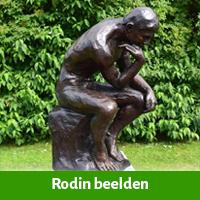 Auguste rodin beelden voor in de tuin
